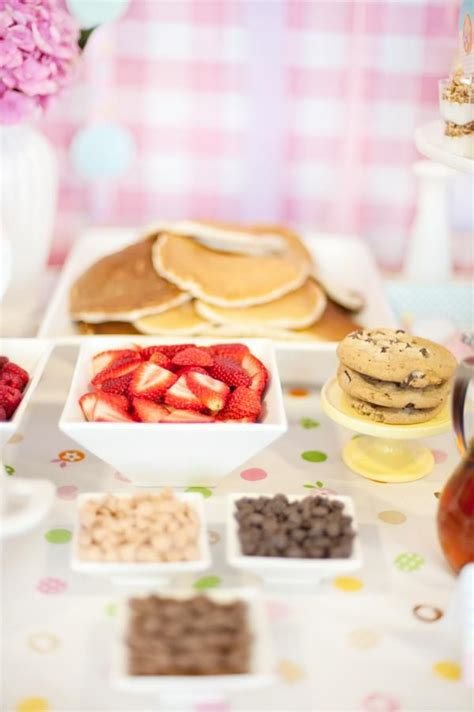 toppings for waffle bar breakfast birthday party for a young child pancake and