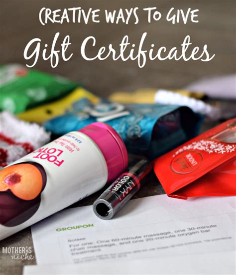 Best Way To Send A Gift Card In The Mail - creative ways to give gift certificates