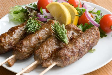 lamb kebabs barbeque crispy lamb kebab with the flavor of coriander