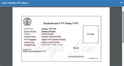 format daftar ulang kartu 5 langkah cara cetak kartu peserta utn ulang 2017 filenya