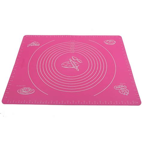 Dough Mat For Rolling by Kitchen Baking50 40cm Non Stick Large Silicone Roll Cut Mat Rolling Pastry Pizza Dough Cutting