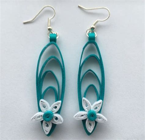 Paper Craft Paper Quilling Handmade Jewelry Earrings - quilled earrings handmade jewelry quilled jewelry white