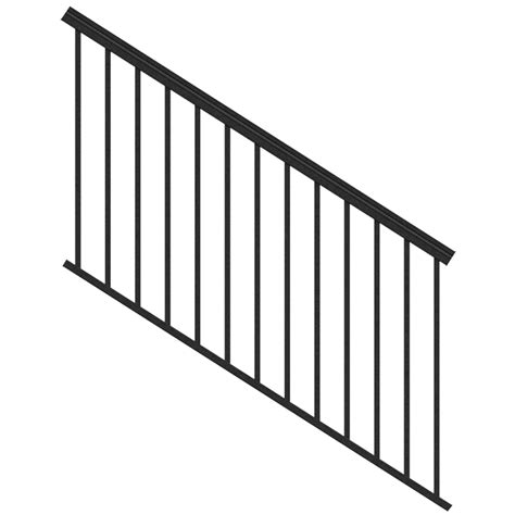 banister kits shop freedom assembled 6 ft x 3 ft versarail black