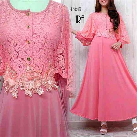 Baju Anak India Pink baju gamis pesta brokat terbaru ira pink model baju