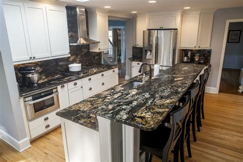 black slab kitchen cabinets beige with black and white kitchen granite countertops