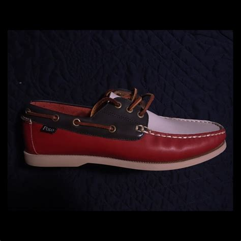 white and blue polo boat shoes 60 off polo other polo men s red white a blue boat