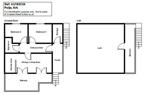2 bedroom ground floor plan property for sale c24 polje krk island croatia