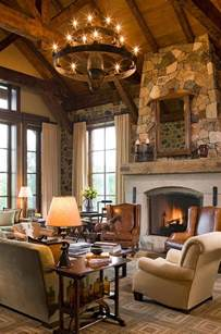 Rustic Home Interior 55 Airy And Cozy Rustic Living Room Designs Digsdigs