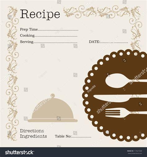 Kitchen Memo Template restaurant ecipe kitchen note template menu memo stock