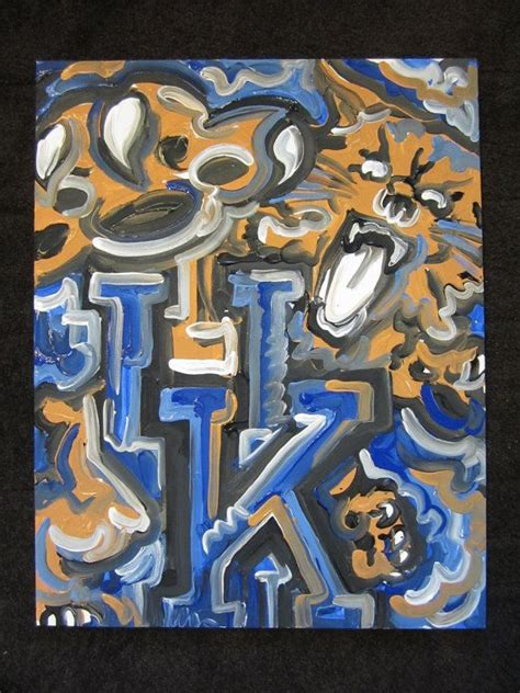 patten university mascot kentucky wildcats painting by justin patten cats