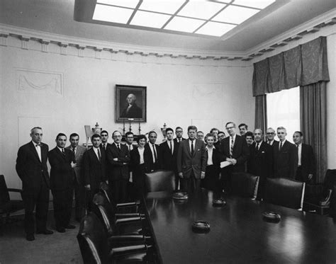 john f kennedy cabinet ar7225 a president john f kennedy stands with members of