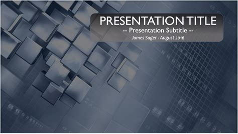free abstract technology powerpoint template 10072