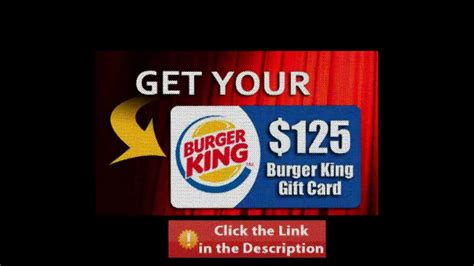 Free Burger King Gift Card - forget burger king coupons here s a chance to get 125 burger king gift card youtube