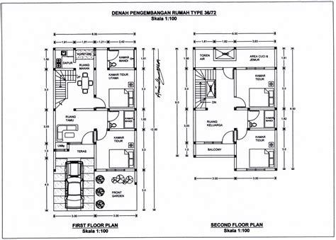 9 sketsa denah rumah modern minimalis type 36 dengan 2 kamar tidur desain unik rumah minimalis