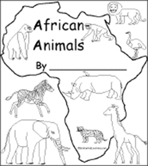 coloring page african animals african animals coloring info pages allaboutnature com