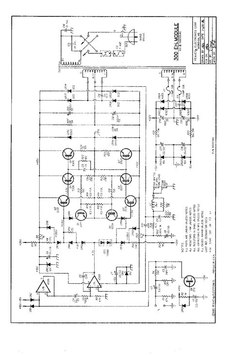 PEAVEY XM6 300EH MODULE SCH Service Manual download