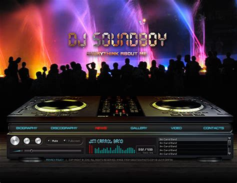 Dj Soundboy Video Gallery Template Best Website Templates Best Dj Website Templates