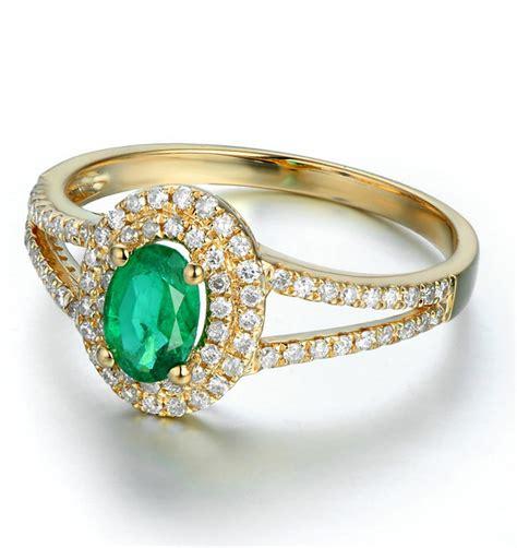 antique halo 2 carat emerald and engagement