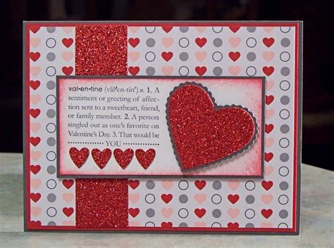 Valentines Handmade Card - handmade s day card using stin up