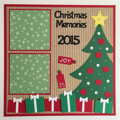 scrapbook layout ideas for christmas handmade premade 12x12 quot christmas memories quot scrapbook page