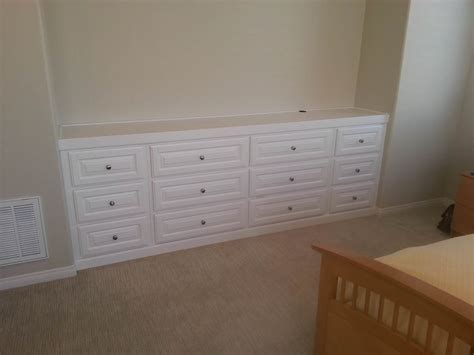 Built In Bedroom Dresser by Custom Entertainment Centers Designed Built