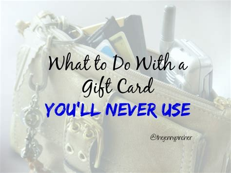 Used Gift Cards - what to do with a gift card you ll never use