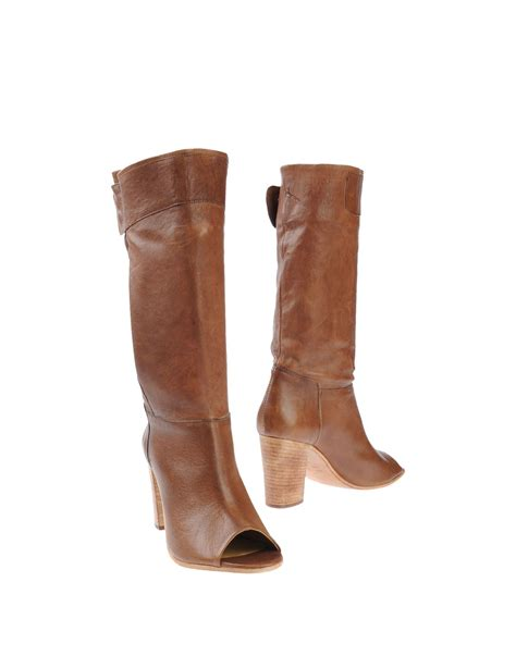 brown high heeled boots lemar 232 high heeled boots in brown lyst