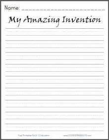 my amazing invention free printable k 3 writing prompt