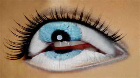 eye freaky lips halloween tutorial youtube