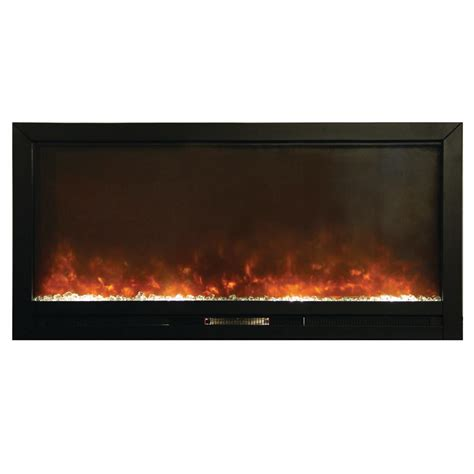 Recessed Electric Fireplace Y Decor Beautifier 50 In Recessed Electric Fireplace In Black Fp1270 Blt The Home Depot