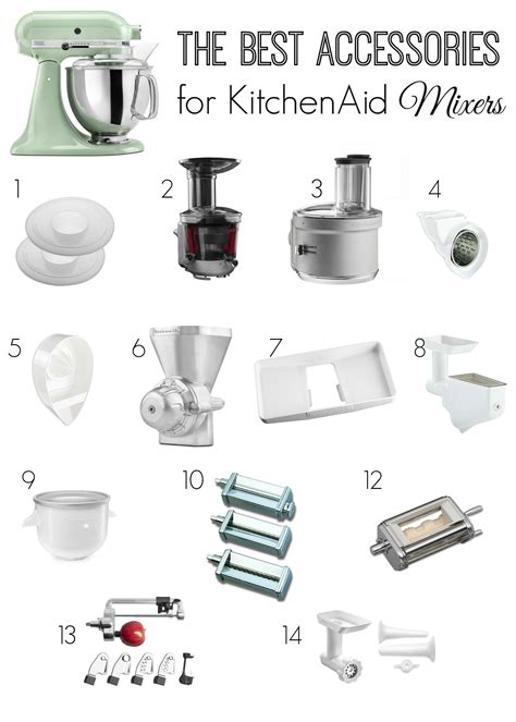 Kitchen Aid Attachments by Best Accessories For Kitchenaid Mixers The
