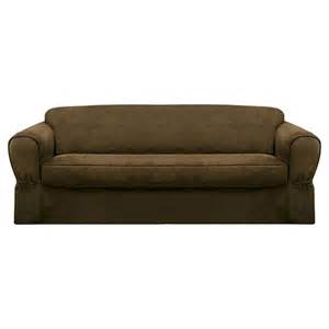 maytex piped suede slipcover sofa target