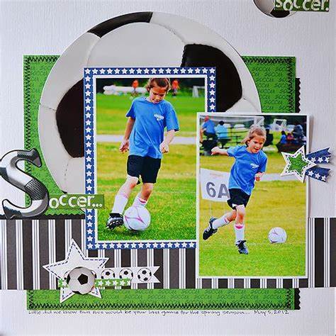 scrapbook layout soccer pinterest the world s catalog of ideas