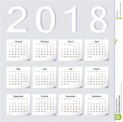 Calendario U Mayor Calend 225 Do Europeu 2018 Fotos De Stock Royalty Free