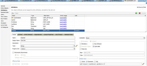 default setter semantic attribute oracle adf world setting default value of vo attribute
