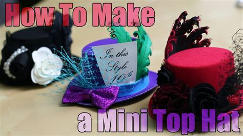 How To Make A Small Hat Out Of Paper - diy fashion mini top hat fascinator tutorial