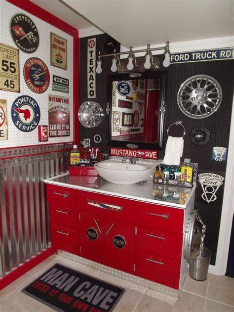 man cave bathroom  boys  vintage car auto bathroom man cave comfort man cave