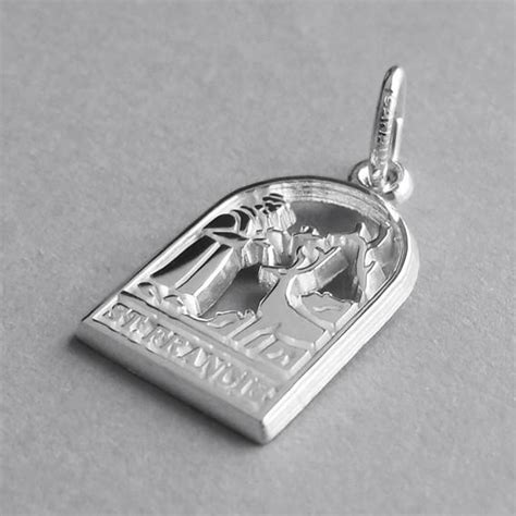 francis of assisi charm sterling silver or gold