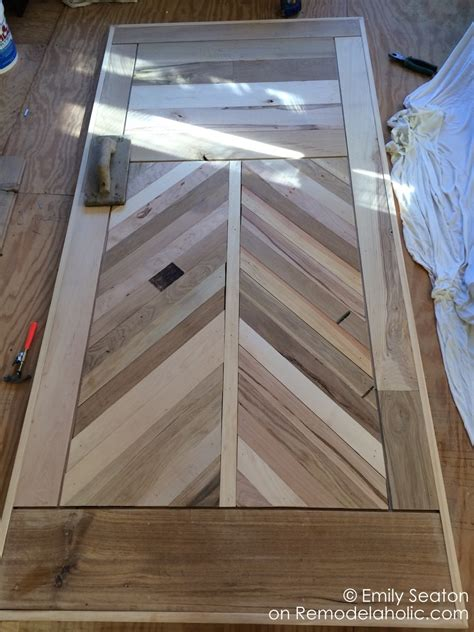 Remodelaholic How To Build A Wood Chevron Barn Door Build A Barn Door Plans