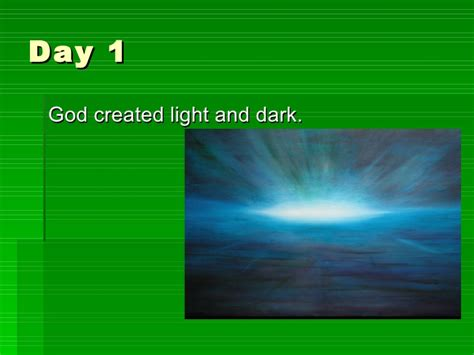 Light And Day by The Christian Creation Story