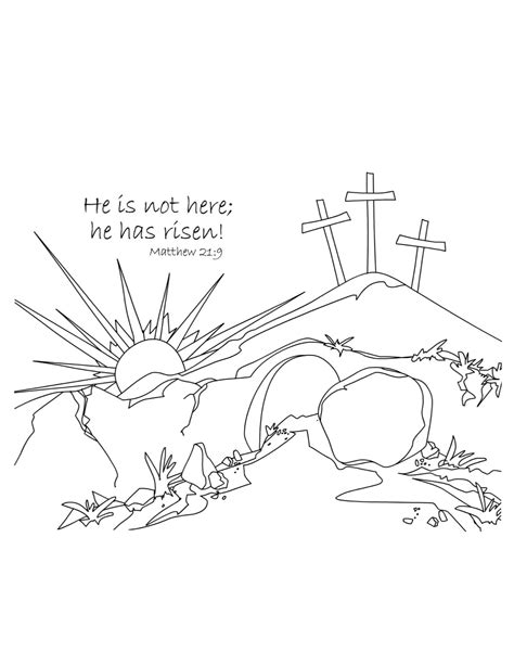 free images of the risen jesus coloring pages