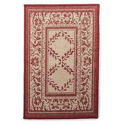 20 Quot X 30 Quot Trump Style Red Beige Patio Rug Big Lots Big Lots Outdoor Rugs