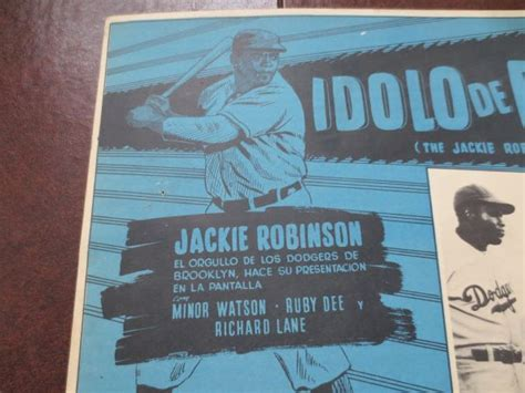 jackie robinson biography in spanish lot detail 1950 s jackie robinson movie broadside the