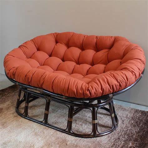 papasan loveseat international caravan bali papasan twill cushion loveseat