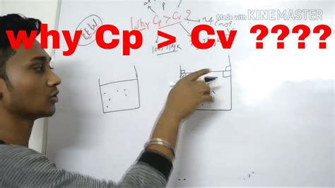 why cp is greater than cv in