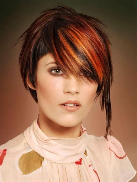 short hairstyle   undercut  long streaks  red hair