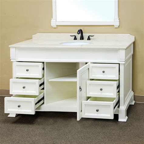 White Vanity by Bellaterra Home 205060 S A White Bathroom Vanity Antique