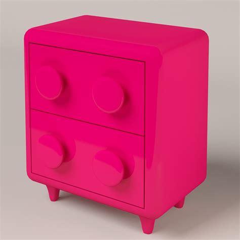 pink nightstand modern pink nightstand 3d model