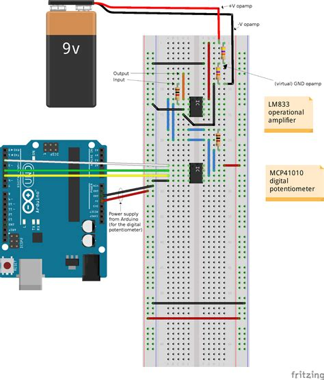 how to use resistor instead of potentiometer techrm how to an inverting lifier using arduino and a digital potentiometer