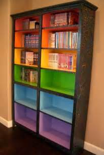 Painted Bookshelves Ideas Paint Colored Shelves To Signify Different Reading Levels